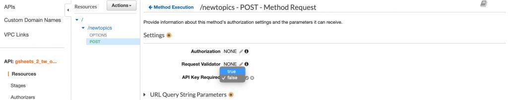 Adding API Key requirement to the POST Method.
