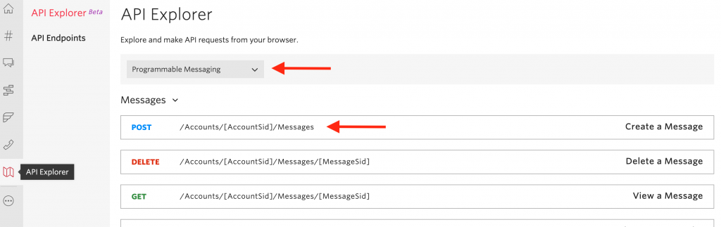 Send Twilio SMS with a POST request from anywhere.