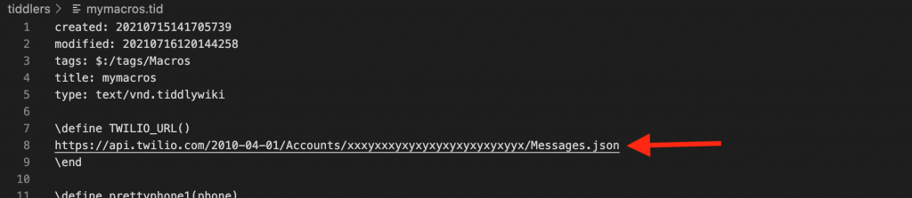Replace the Twilio endpoint URL with your own. Now you can POST SMS messages to the Twilio API.